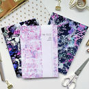 Set Of Three A5 Patterned Notebooks