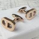 Anchor Link Infinity Rose Gold Cufflinks