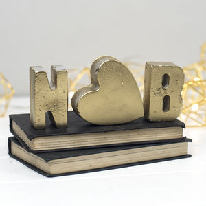 Personalised Gold Front Concrete Letters - home accessories