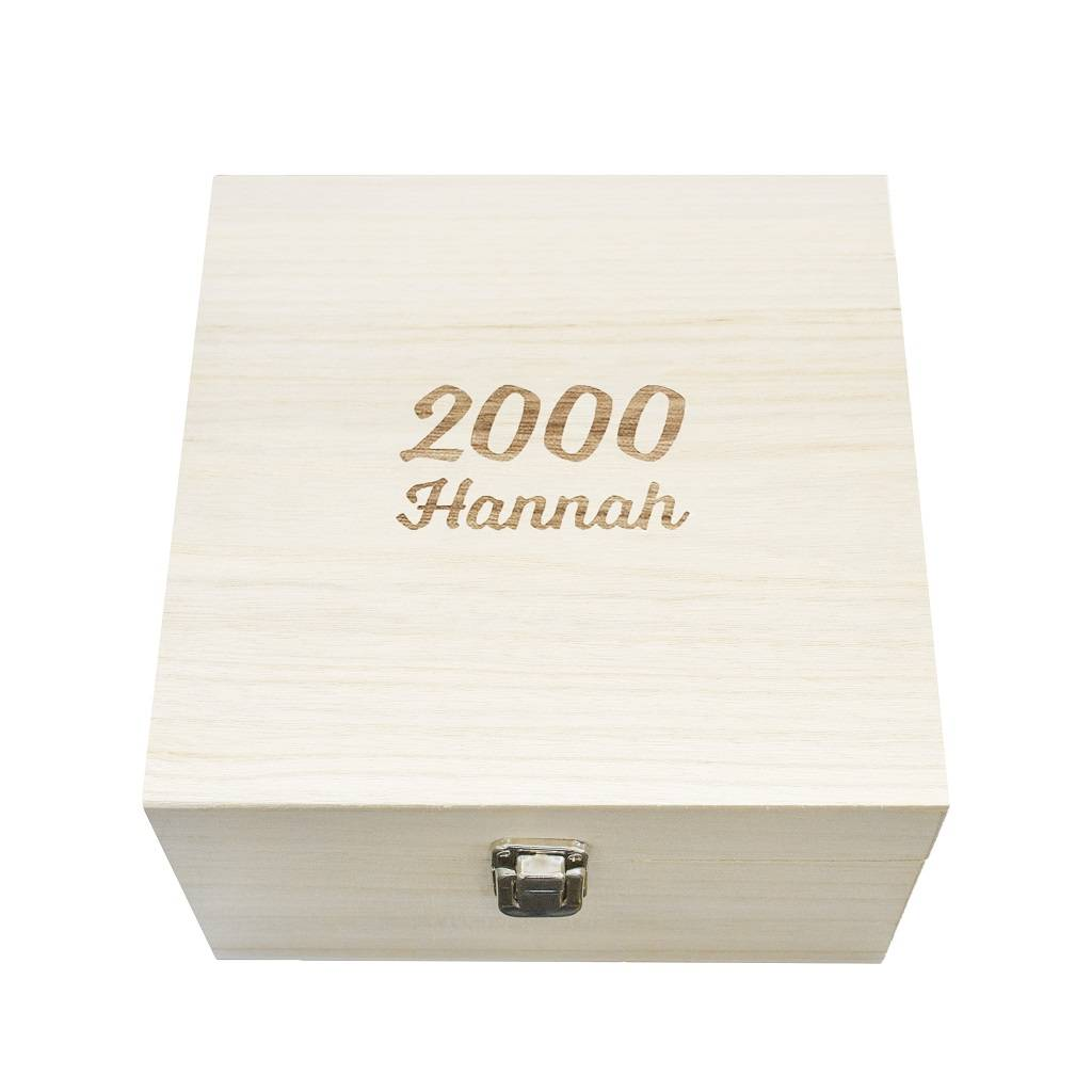 Name And Year Milestone Birthday Memory Box