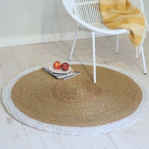 Braided Wicker Rug Round