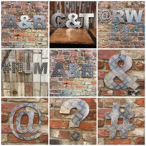 12' Metal Aluminium Letters Symbols Signs - home accessories