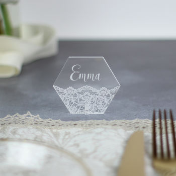 Personalised Geometric Place Setting