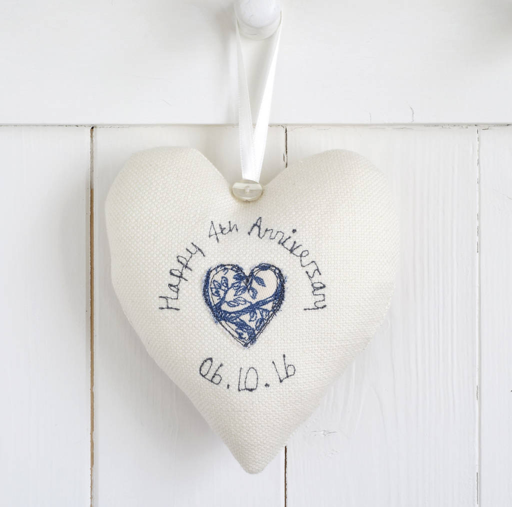 42 Wedding Anniversary Gift: Personalised Wedding Anniversary Heart Gift By Milly And