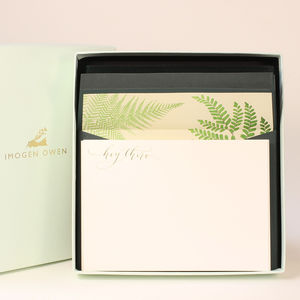 Luxury Fern Letter Writing Set - desk accessories
