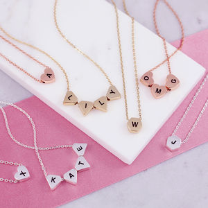 Personalised Initial Bead Necklace - personalised jewellery