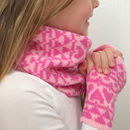 Childrens Snood and Matching Mitts