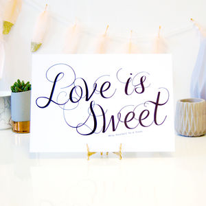 Candy Buffet Wedding Sign