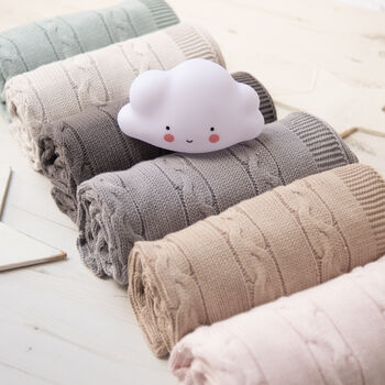 Unisex Baby Luxury Cable Blanket