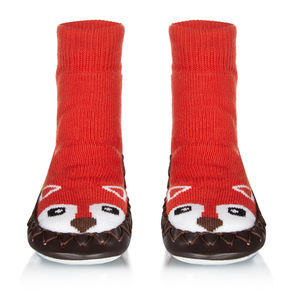 Kids Mr Fox Moccasin Slippers - shoes & footwear