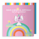 Birthday Unicorn Jelly Magnet Card