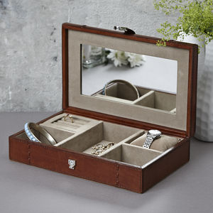 Personalised Leather Jewellery Case - jewellery storage & trinket boxes