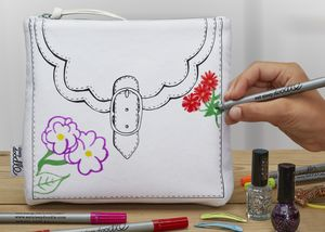 Colour In And Design Your Own Bag
