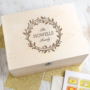 Personalised Wreath Keepsake Box - keepsake boxes