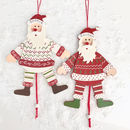 Personalised Wooden Santa Decoration