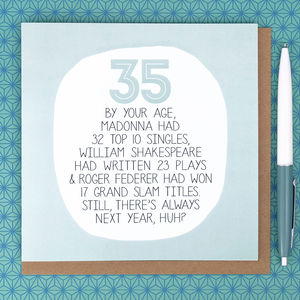 By your age funny 35th birthday card by paper plane by your age funny 35th birthday card by paper plane notonthehighstreet bookmarktalkfo Image collections