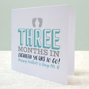Typographic New Dad Card - first father's day cards