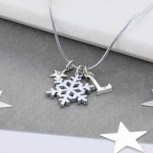 Personalised Kids Snowflake Necklace - necklaces & pendants