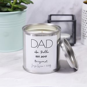 First Father's Day Paint Pot Scented Candle For Dad