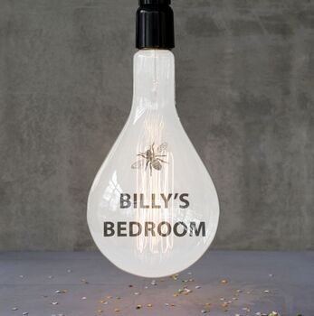 Personalised 'Insects' Giant Filament Light Bulb