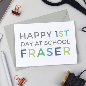 Personalised First Day At School Card - first day of school