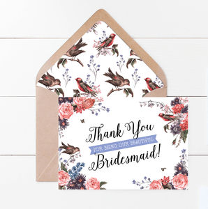 Eleanor Birds And Blooms Thank You Card - what's new