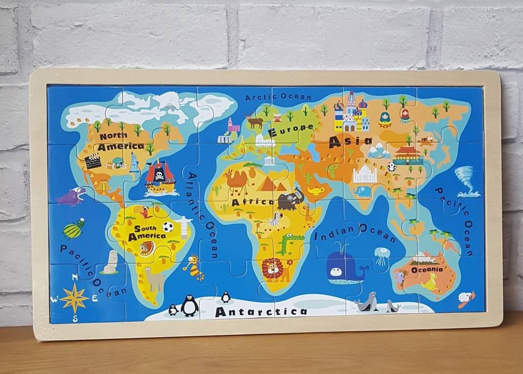 India Map Puzzle.World Map Puzzle By Oodles Of Gifts Notonthehighstreet Com