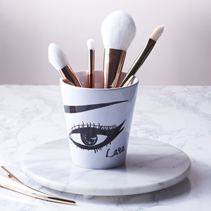 Personalised Make Up Brush Pot - fashionista gifts