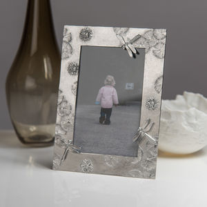 Lily Pond Cast Pewter Photo Frame - picture frames