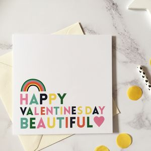 Bright Typography Valentines Card - cards & wrap