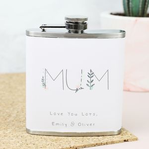 Personalised Stainless Steel 'Mum' Hip Flask