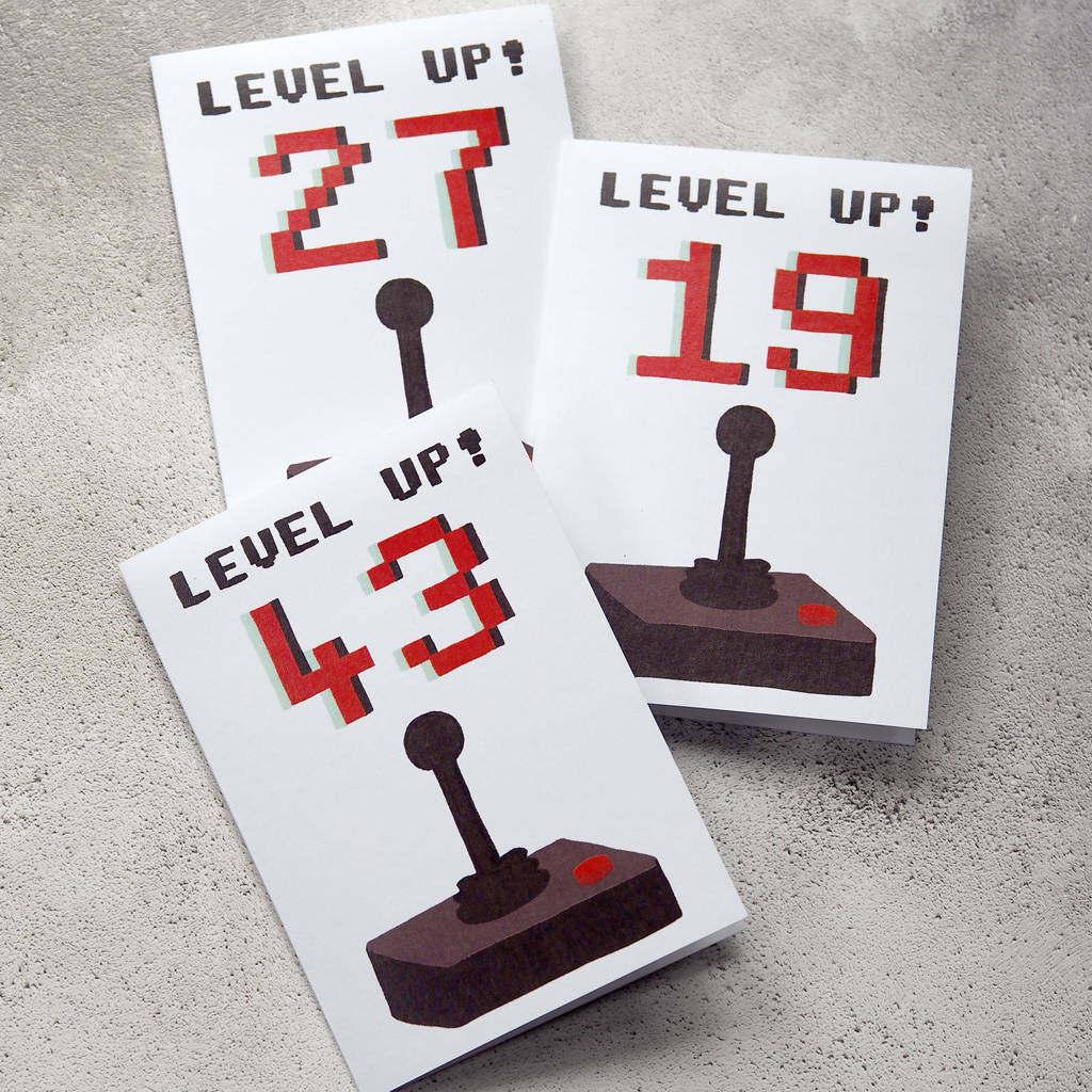 Level Up Personalised Age Birthday Card