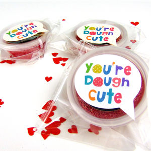 Glittery Child's Dough Valentines Favour