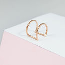Double Bar Minimalist Curve Ring