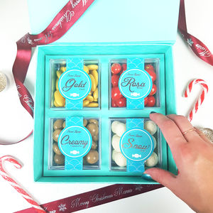 Personalised Christmas Chocolate Gift Box - what's new