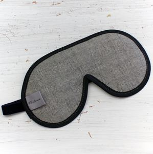 Men's Luxury Denim Sleep Masks - bedding & accessories
