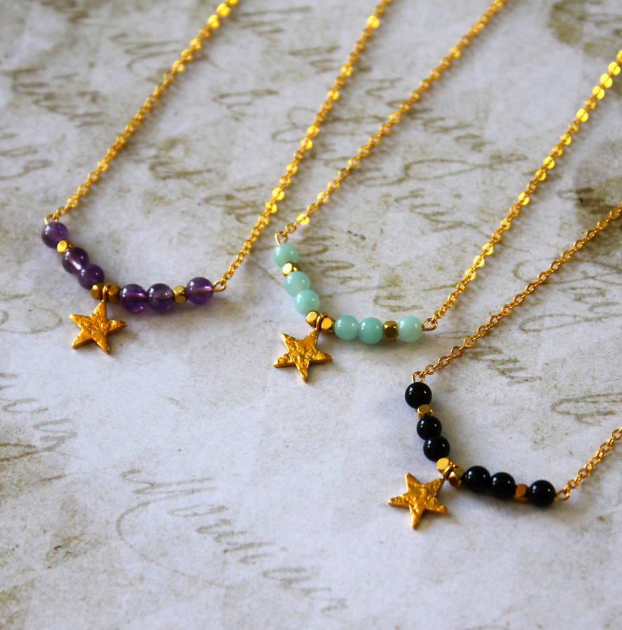 Children's 24ct Gold Vermeil Star Charm Necklace