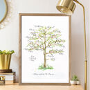 Personalised Calligraphy Family Tree Print