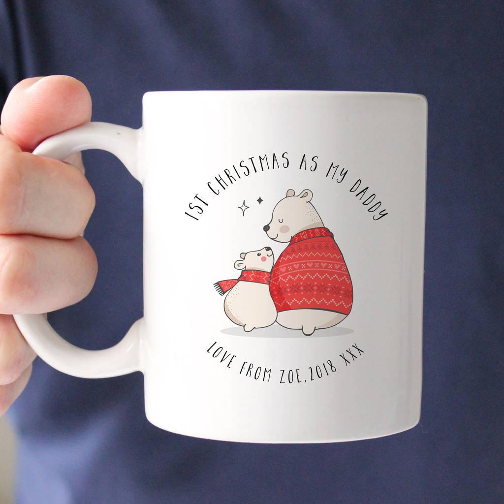 'first christmas as my daddy' mug by oli & zo ...