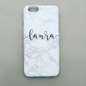 Personalised Marble Mobile Phone Case - gifts for her