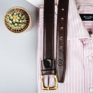 Mens Luxury Leather Casual Belt 'The Franco' - belts