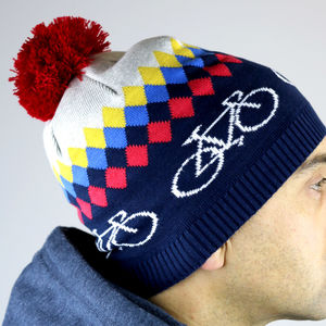 Bicycle Knitted Beanie - hats, scarves & gloves