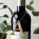 Glitter Initial Bottle Tag