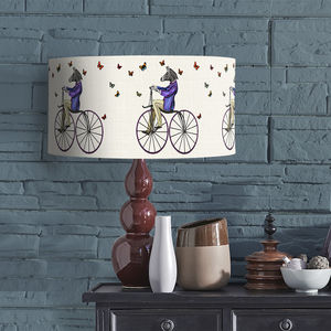 Zebra On Bicycle Lampshade - bedroom