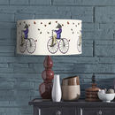 Zebra On Bicycle Lampshade