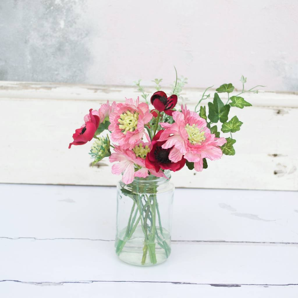 pink summer faux flower bouquet by abigail bryans designs ...