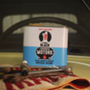 Liquorice Motors Tin Blue