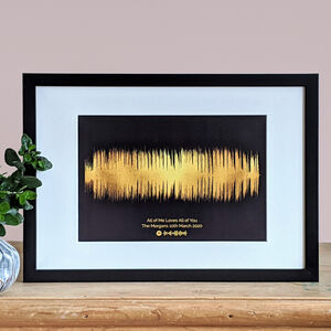 Personalised Limited Edition Sound Wave Print