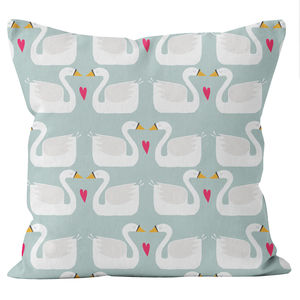 Swans Cushion - children's room