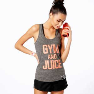 Gym And Juice Racer Back Vest - women's fashion